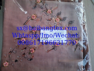SPUN POLYESTER EMBROIDERY SCARF