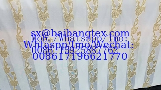 Metalic jacquard polyester design fabric metalic satin metalic chiffon