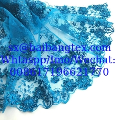 China Embroidery Lace fabric wedding fashion high quality for brand garments lace fashion supplier