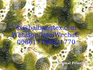 Spun polyester voile 3D Digital Printing super finishing quality Japanese Quality finishing fabrics for fashion