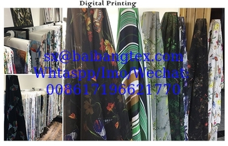 3D Digital Printing super finishing quality Japanese Quality finishing fabrics for fashion