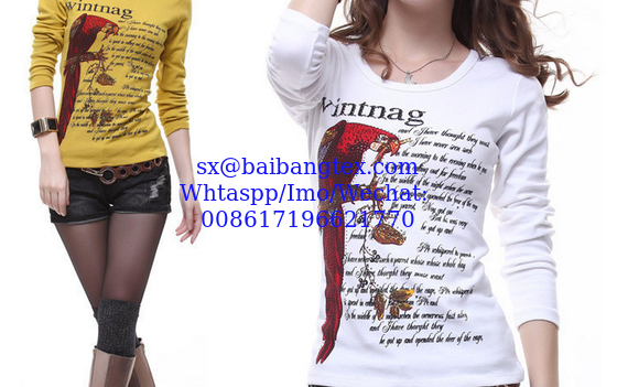 Lady T shirts piece printing
