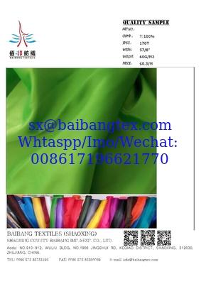 170t-210t taffeta dyed fabric