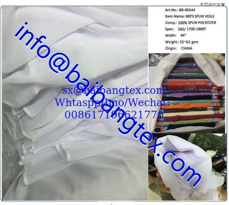 Spun Polyester Voile For Muslim Scarf  high twisted full voile 00144 00187 famous brand items whole world famous
