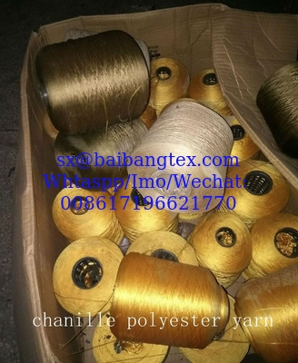 chanille color yarn polyester stocks