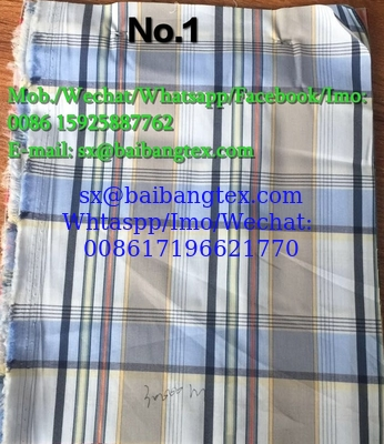 Yarn Dyed check design shirts of pants or boxers fabric cotton spandex high quality