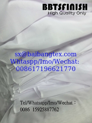 BBTSFINISH High twisted spun full voile 44 inch Bluish White fabric used for muslim scarf, shawel, head cover