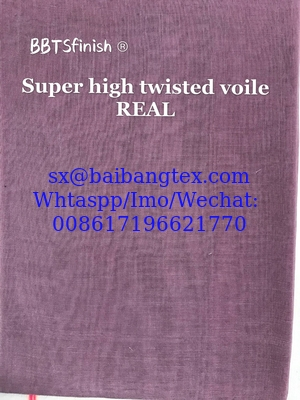 MADE IN JAPAN SPUN POLYESTER HIGH TWISTED FULL VOILE 44""